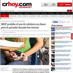 MEP prohibe el uso de celulares en clases pero lo permite durante los recreos