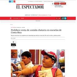 Prohíben venta de comida chatarra en escuelas de Costa Rica