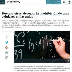 Buenos Aires: derogan la prohibición de usar celulares en las aulas