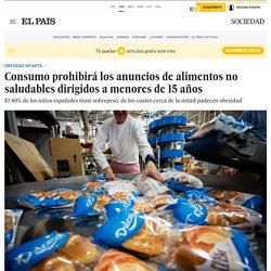 Consumo prohibirá los anuncios de alimentos no saludables dirigidos a menores de 15 años