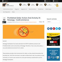 Prohibited Seller action and activity at Newegg- CedCommerce