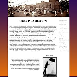1920s' Prohibition: Moonshine, Bootleggers, and Speakeasies