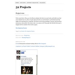 Project #20 « 52 Projects