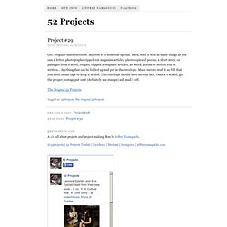 Project #29 & 52 Projects