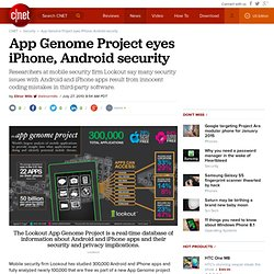 App Genome Project eyes iPhone, Android security | InSecurity Complex