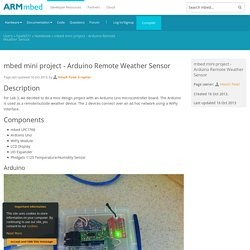 mbed mini project - Arduino Remote Weather Sensor
