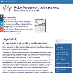Project audit - overview of audit process