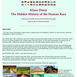 Project Avalon - Klaus Dona: The Hidden History of the Human Race - StumbleUpon