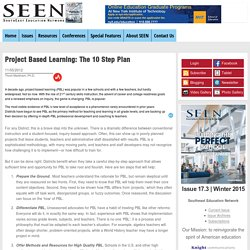 Project Based Learning: The 10 Step Plan