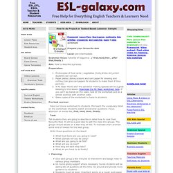 ESL,EFL project based, task based lesson, cooking