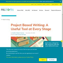Project Based Writing: A Useful Tool at Every Stage