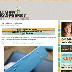 DIY Project: 3 ring binder – Lemon and Raspberry