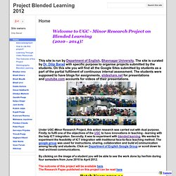 Project Blended Learning 2012