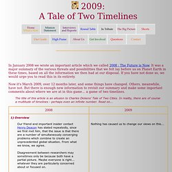 2009: A Tale of Two TImelines