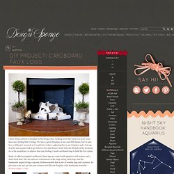 Design*Sponge » Blog Archive » diy project: cardboard faux logs