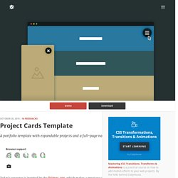 Project Cards Template in CSS and jQuery