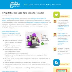 24 Project Ideas from Global Digital Citizenship Foundation