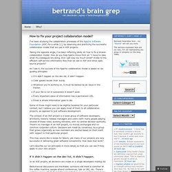 How to fix your project collaboration model? « bertrand's brain grep