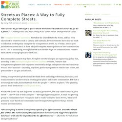 Are Complete Streets Incomplete?