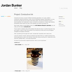 » Project: Conductive Ink Jordan Bunker