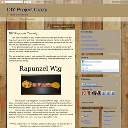 DIY Rapunzel Yarn wig