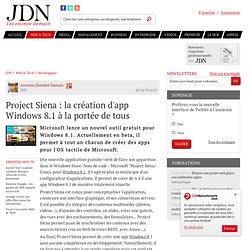 Project Siena : la création d'app Windows8.1 à la portée de tous