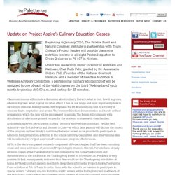 Update on Project Aspire's Culinary Education Classes | Blog | Palette Fund