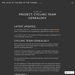 Project: Cycling Team Genealogy – The Light at the end of the tunnel…