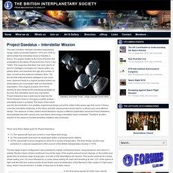 Project Daedalus – Interstellar Mission