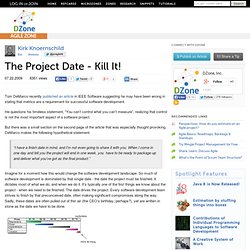 The Project Date - Kill It!