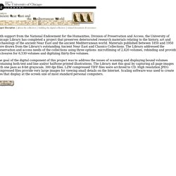 University of Chicago Library, Ancient Near East and Classics Collections