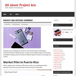 Project Ara DevCon2 summary