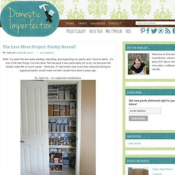 The Less Mess Project: Pantry Reveal!