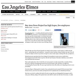 Bay Area News Project has high hopes, few employees - latimes.co