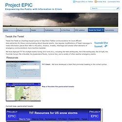 Project EPIC » Tweak the Tweet