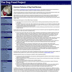 The Dog Food Project - Common Fallacies of Dog Food Reviews