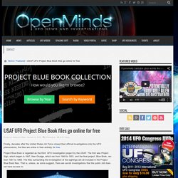 USAF UFO Project Blue Book files go online for free
