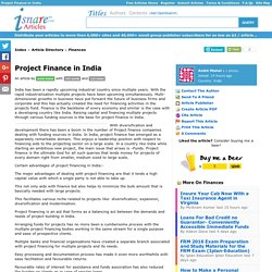 Project Finance Companies in India