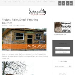 Project: Pallet Shed- Finishing Touches
