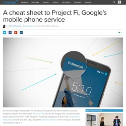 A cheat sheet to Project Fi, Google's mobile phone service