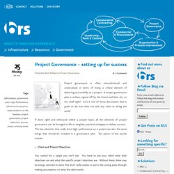 Project Governance – setting up for success