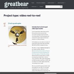 greatbear audio and video digitising