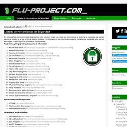 Flu Project: Listado de Herramientas de Seguridad