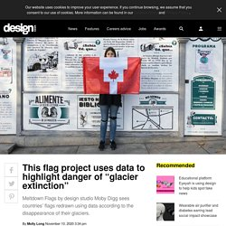 """This flag project uses data to highlight danger of """"glacier extinction"""""""