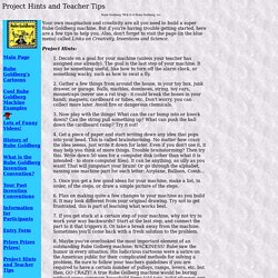 Project Hints and Teacher Tips