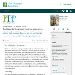 The Global Garden project: Imagining plant science - Lee - 2020
