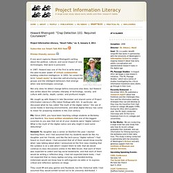 Project Information Literacy: Smart Talks