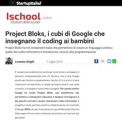 Project Bloks, i cubi di Google che insegnano il coding ai bambini