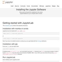 Installing the Jupyter Notebook