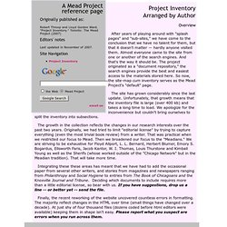 Robert Throop and Lloyd Gordon Ward. Project Inventory Arranged by Author